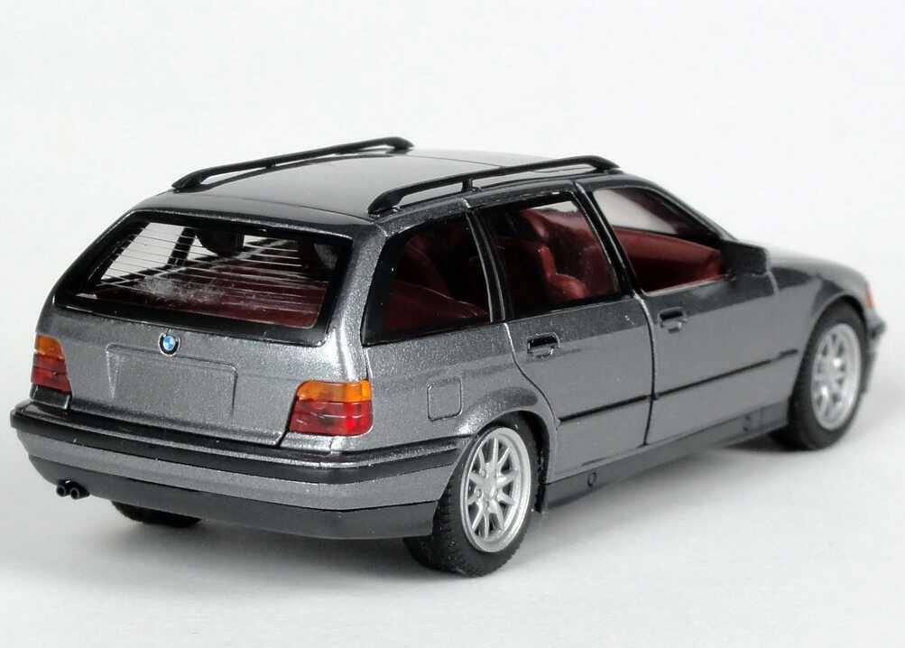 Foto 1:43 BMW 325i touring (E36) grau-met. Der neue BMW 3er touring Werbemodell Schuco 80429419973