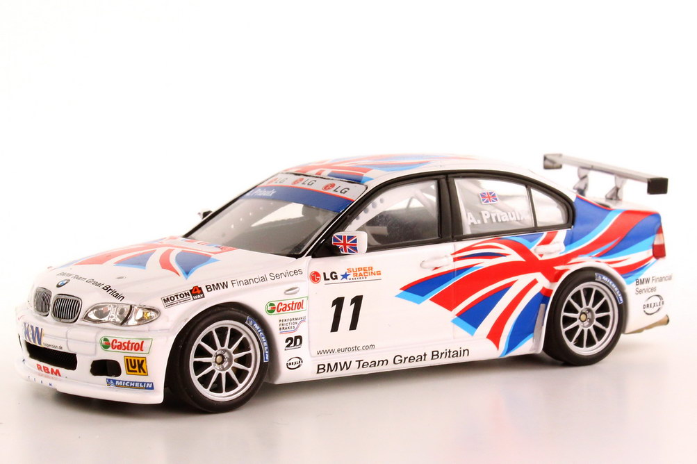 Foto 1:43 BMW 320i E46 ETCC 2004 BMW Team UK Nr.11 Andy Priaulx - Champion - Minichamps 400 042411
