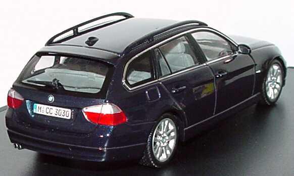 Foto 1:43 BMW 3er touring (E91) monacoblau-met. Werbemodell Kyosho 80420394358