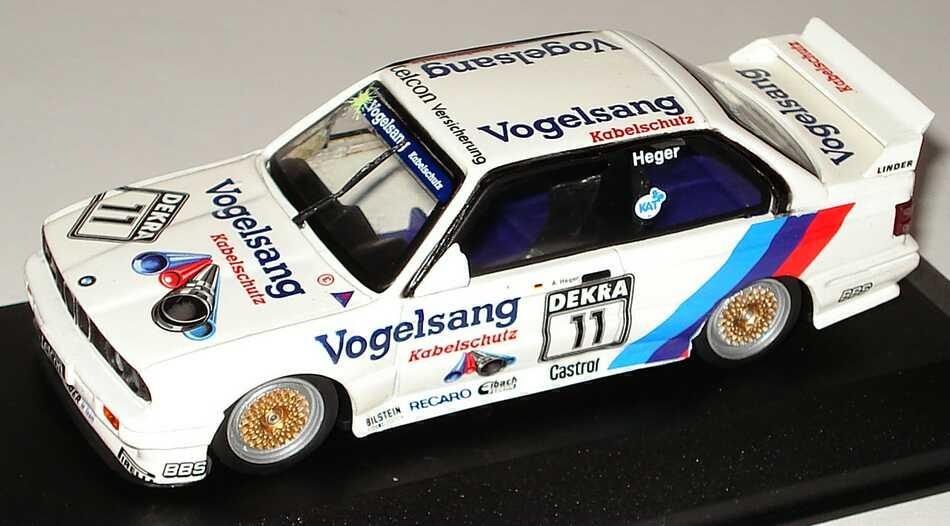 Foto 1:43 BMW M3 (E30) DTM 1990 Linder, Vogelsang Nr.11, Heger Minichamps