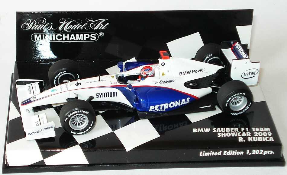 Foto 1:43 BMW Sauber F1.09 Formel 1 2009 Petronas Nr.5, Robert Kubica (Showcar) Minichamps 400090075