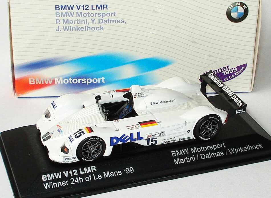 Foto 1:43 BMW V12 LMR 24h von Le Mans 1999 Dell Nr.15, Martini / Dalmas / Winkelhock, Siegerfahrzeug Werbemodell Minichamps 80429418138