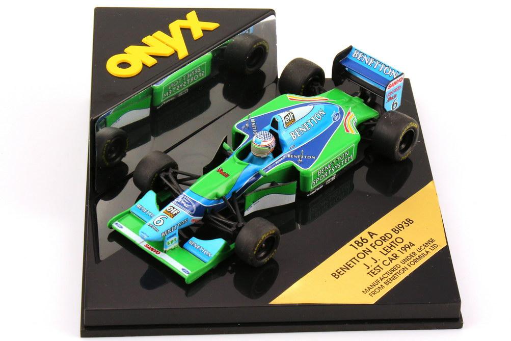 Foto 1:43 Benetton Ford B193B Formel 1 1994 Nr.6, J. J. Lehto - Test Car Onyx 186A