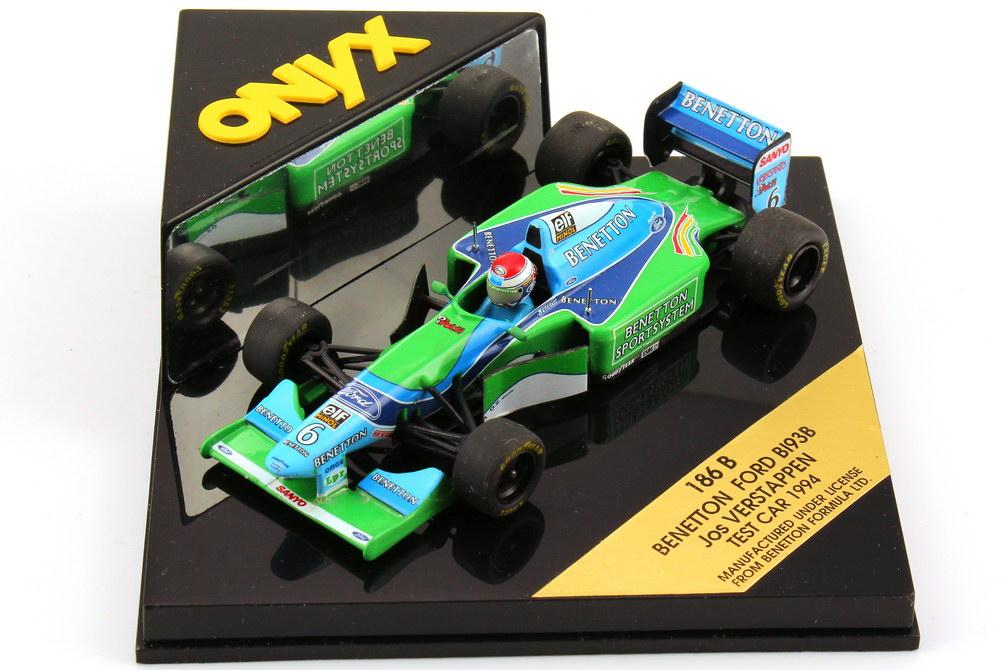 Foto 1:43 Benetton Ford B193B Formel 1 1994 Nr.6, Jos Verstappen - Test Car Onyx 186B