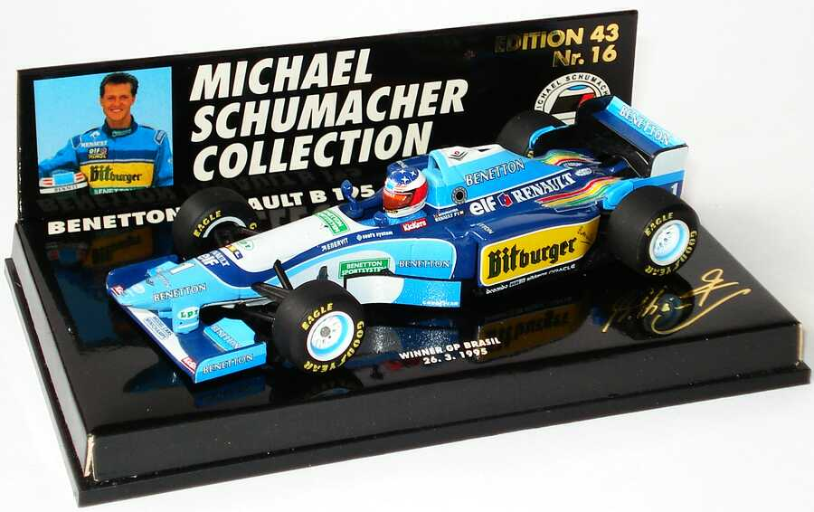 Foto 1:43 Benetton Renault B 195 Nr.1, Michael Schumacher (Sieger Brasilien 1995) Paul´s Model Art 510954301
