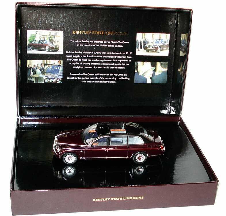 Bentley State Limousine: Bentley State Limousine Weirot/schwarz-met. Minichamps