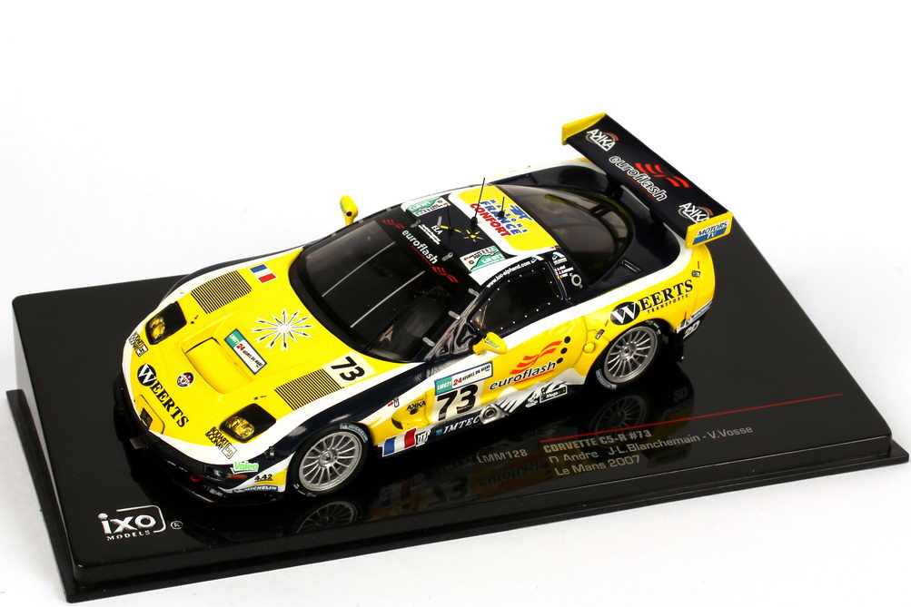 Foto 1:43 Chevrolet Corvette C5-R 24h von Le Mans 2007 euroflash Nr.73, Andre / Blanchemain / Vosse Ixo LMM128