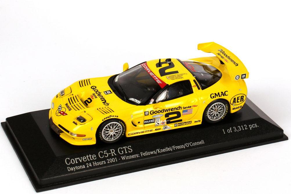 Foto 1:43 Chevrolet Corvette C5-R GTS Daytona 24h 2001 Goodwrench Nr.2, Fellows / Kneifel / Freon * O´Connell (Siegerfahrzeug) Action Performance AC4011402