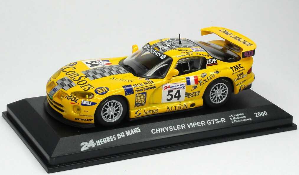 Foto 1:43 Chrysler Viper GTS-R 24h von Le Mans 2000 Paul-Belmondo-Racing, ConSors Nr.54, Lagniez / Martinolle / Derichebourg Ixo