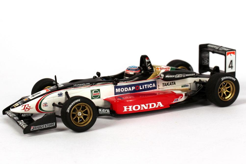 Foto 1:43 Dallara Mugen Honda F301 Formel 3 GB 2001 Zandvoort Masters Nr.4, Takuma Sato (Sieger, TS Collection No.9) Minichamps 518014309