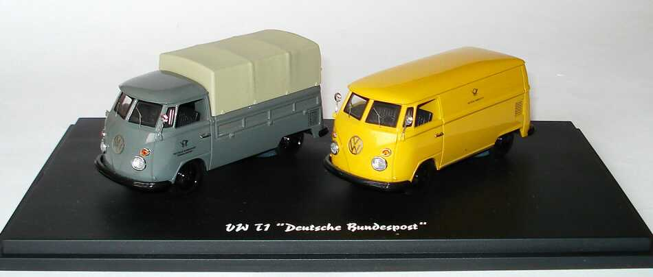 Foto 1:43 Edition Deutsche Post VW T1 (VW T1 Pritsche/Plane Fernmeldedienst + VW T1 Kasten Post) Schuco 03986S