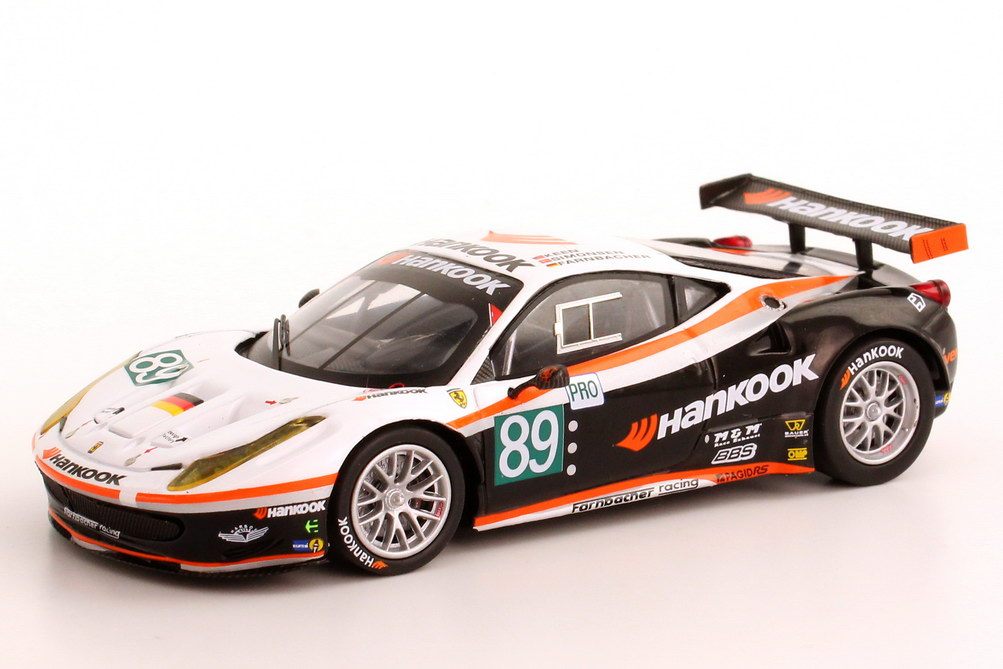 1 43 ferrari 458 italia gt2 24h le mans 2011 fahad course hankook numero 89 ebay. Black Bedroom Furniture Sets. Home Design Ideas