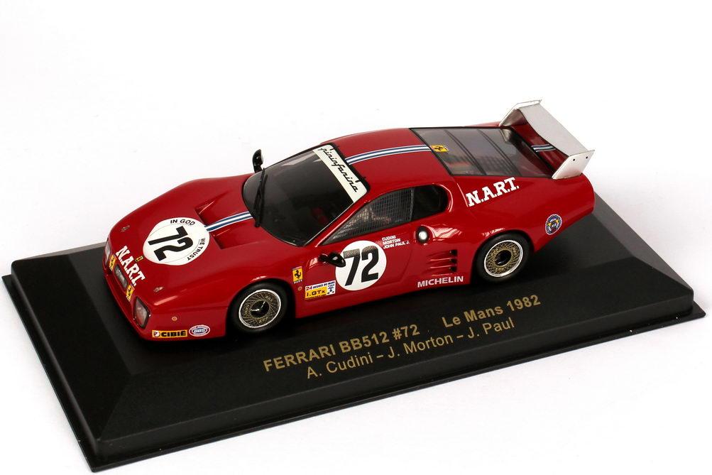 Foto 1:43 Ferrari 512BB Le Mans 24h von Le Mans 1982 N.A.R.T Nr.72, Cudini / Morton / Paul Ixo FER016