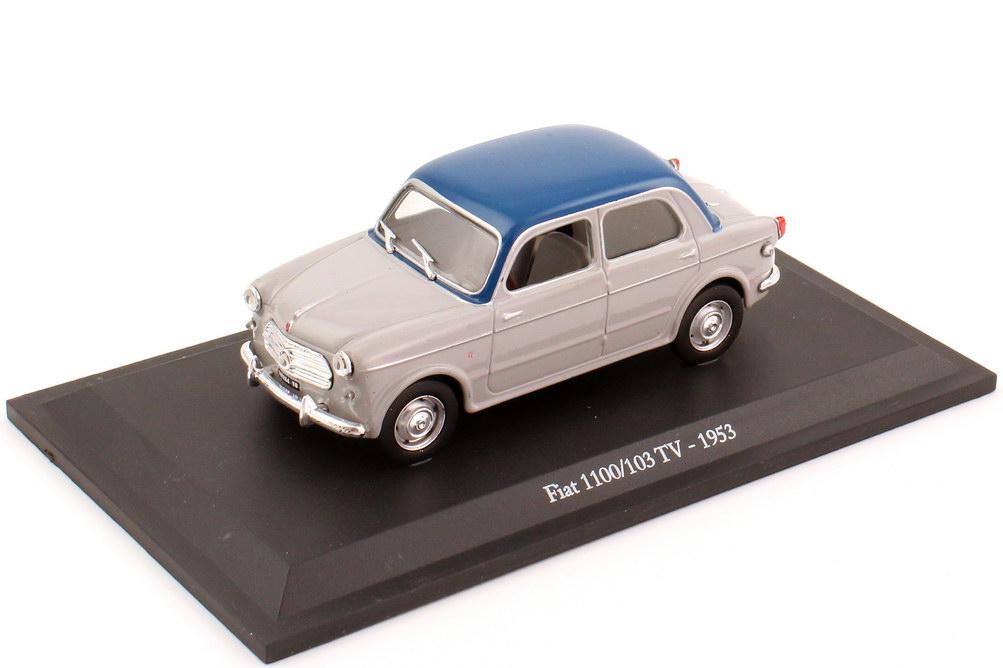 Foto 1:43 Fiat 1100-103 TV (1953) grau, Dach blau Metro Hachette-Collection