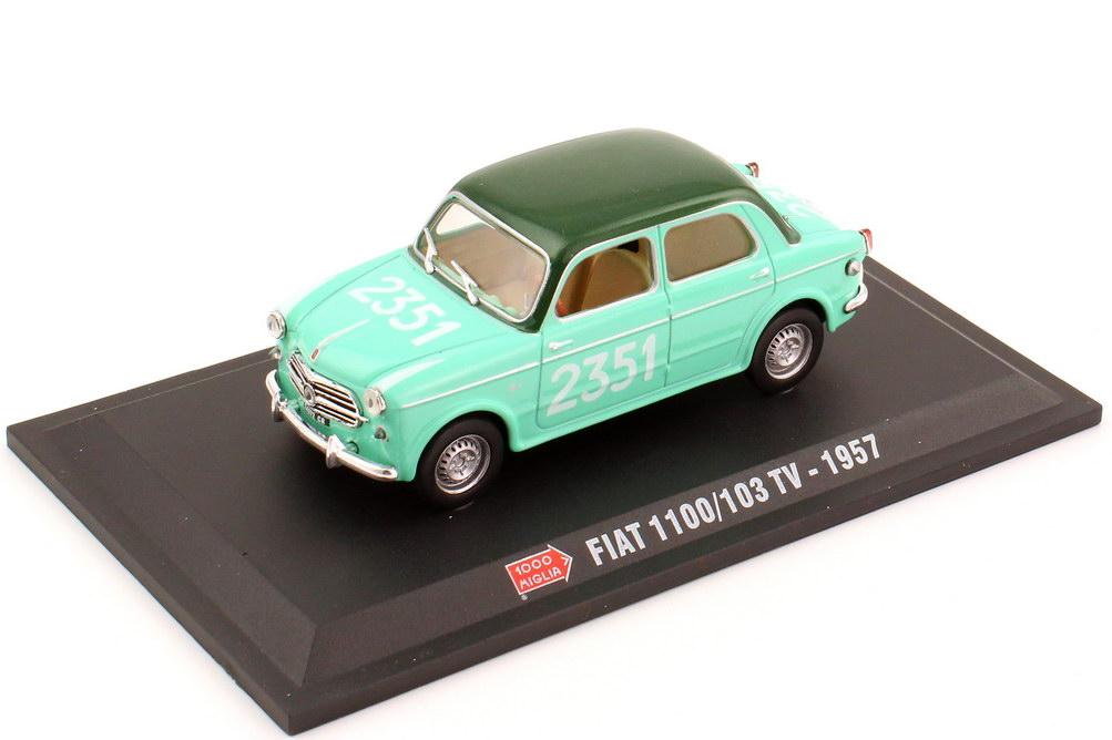 Foto 1:43 Fiat 1100-103 TV Mille-Miglia 1957 Nr.2351 Metro Hachette-Collection