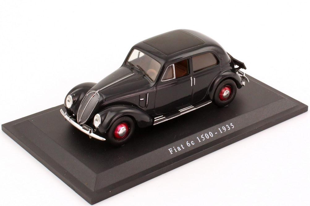 Foto 1:43 Fiat 1500 6c (1935) grau-schwarz Metro Hachette-Collection