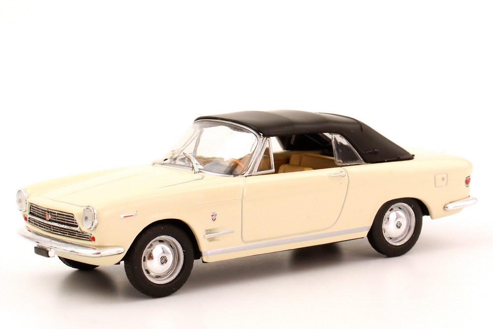 Foto 1:43 Fiat 2300 S Cabriolet (geschlossen) grau-weiß Starline 560511