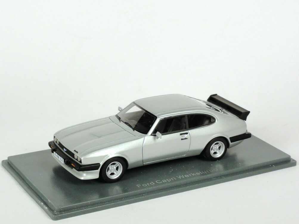 Foto 1:43 Ford Capri Mk III Werksturbo silber-met. NEO Scale Models 43326