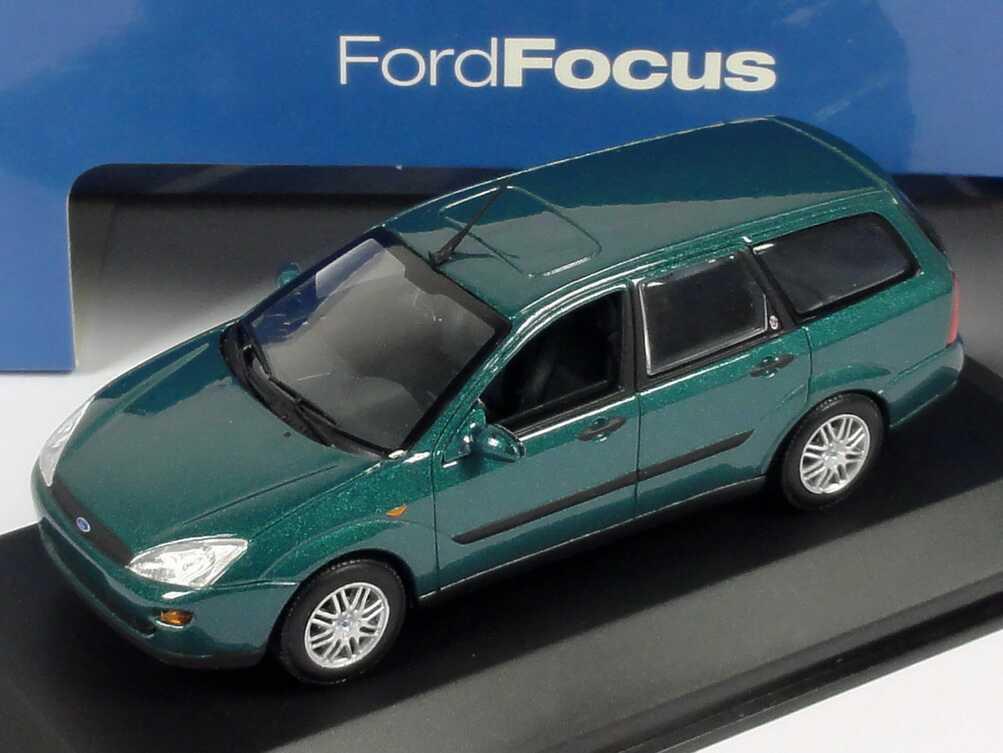 Foto 1:43 Ford Focus Turnier lagunen-grün-met. Werbemodell Minichamps