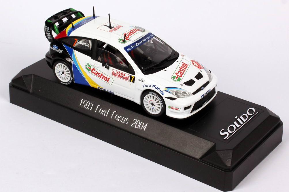 Foto 1:43 Ford Focus WRC Rally Monte Carlo 2004 Castrol Nr.7, Märtin / Park Solido 1593