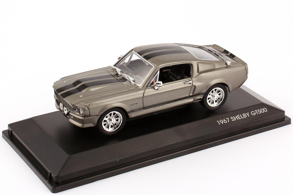 Foto 1:43 Ford Mustang GT-500 Eleanor 1967 grau, schwarze Racing-Streifen Yat Ming 43202