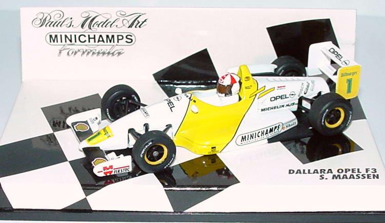 Foto 1:43 Formel 3 1994 Dallara-Opel F3 Opel, Minichamps Nr.1, S. Maassen Minichamps 430943001