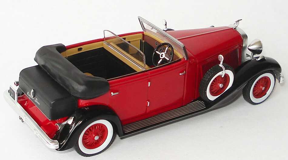 Foto 1:43 Hispano-Suiza H6C (1934) rot/schwarz Ixo