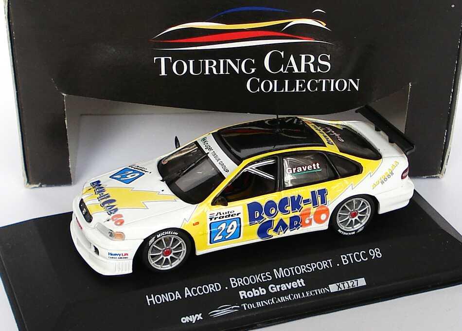 Foto 1:43 Honda Accord BTCC 1998 Brookes Motorsport, Rock-It CarGo Nr.29, Robb Gravett Onyx XT127
