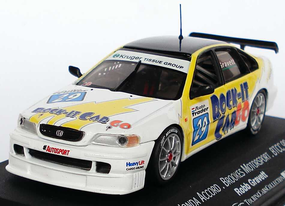 Foto 1:43 Honda Accord BTCC 1998 Brookes Motorsport, Rock-It CarGo Nr.29, Robb Gravett Onyx XT127