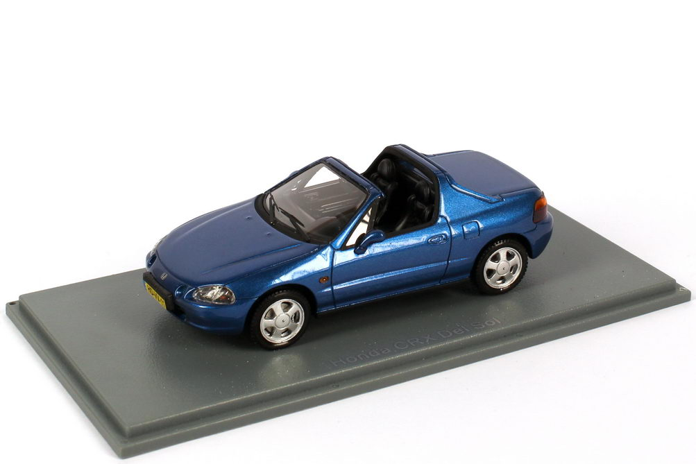 Foto 1:43 Honda CRX del Sol blau-met. NEO Scale Models 44511