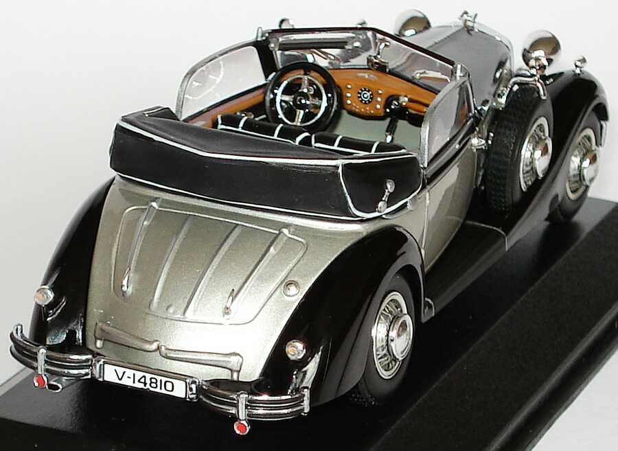 Foto 1:43 Horch 853 A Cabrio schwarz/silber Werbemodell Minichamps 503.03.010.03