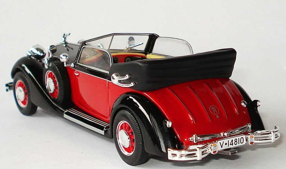 Foto 1:43 Horch 853 A Cabriolet (1938) rot/schwarz Ixo