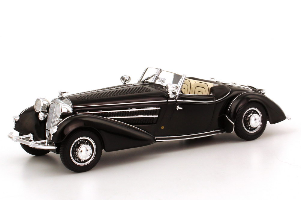 Foto 1:43 Horch 855 Spezial Roadster schwarz 1939 - Werbemodell - Minichamps 50305003030
