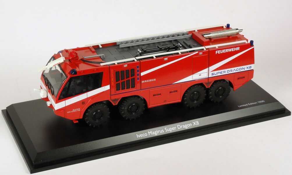 Foto 1:43 Iveco Magirus Super Dragon X8 Feuerwehr Schuco 07137