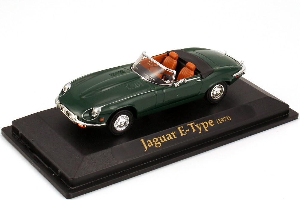 Foto 1:43 Jaguar E-Type Roadster 1971 british-racing-green Yat Ming 94243-C