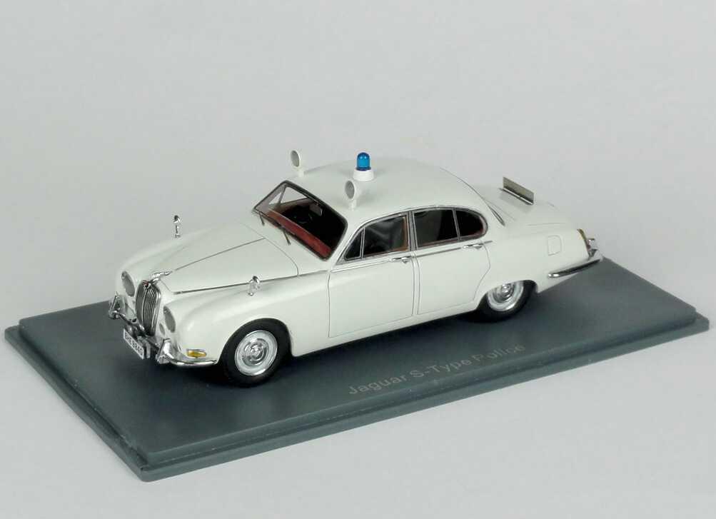 Foto 1:43 Jaguar S-Type (1965) British Police weiß NEO Scale Models 43948