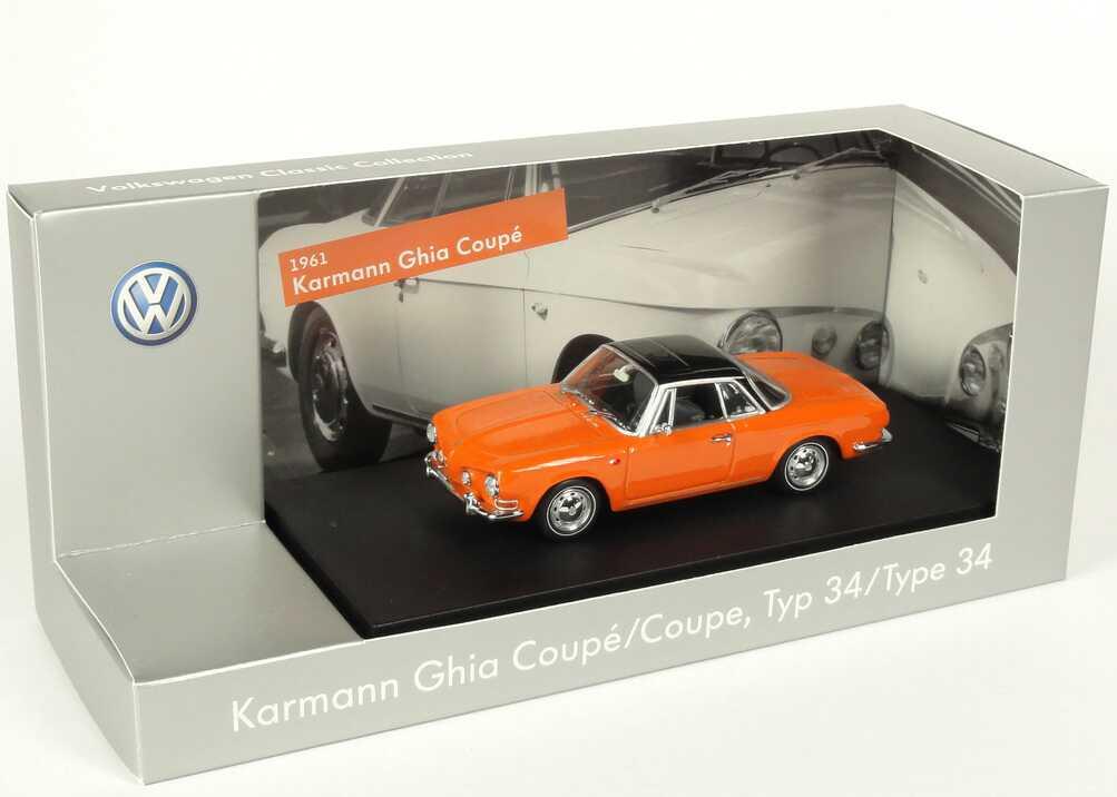 Foto 1:43 Karmann Ghia 1600 Coupé nepalorange Werbemodell Minichamps 000099300ABK2Y