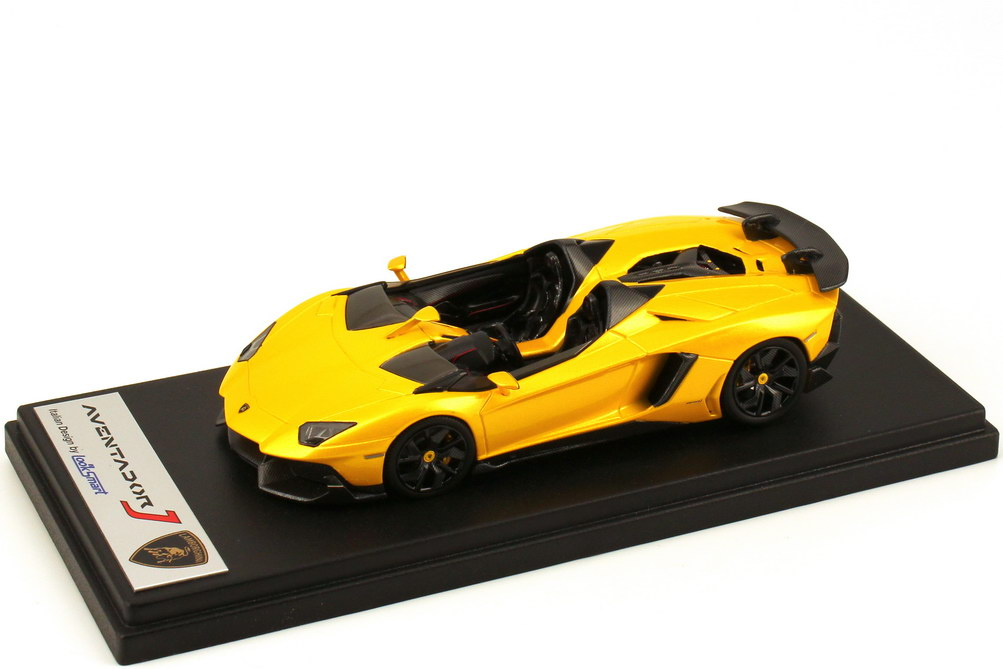 Foto 1:43 Lamborghini Aventador J giallo-orion-met. Looksmart LS398B