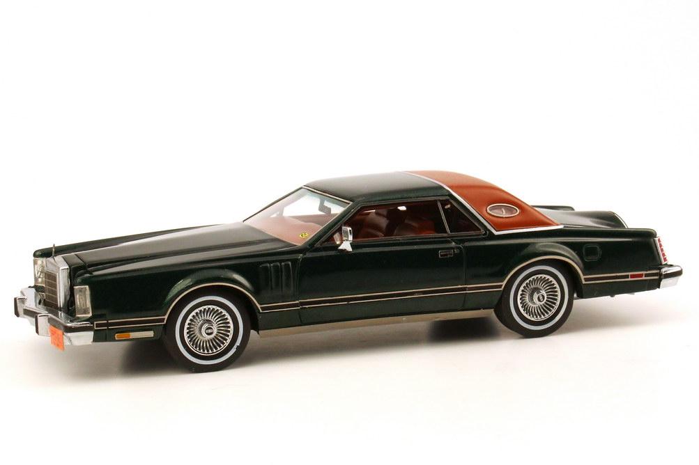 Foto 1:43 Lincoln Continental Mark V dunkel-grün-met./braun NEO Scale Models 43550