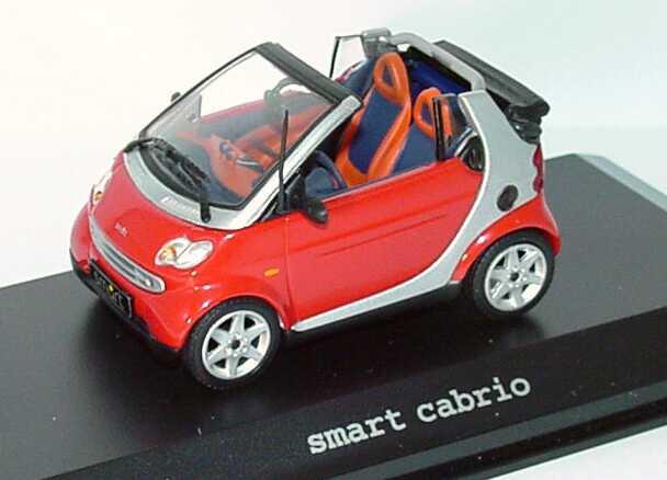 Foto 1:43 MCC Smart Cabrio phat-red/silber-met. Minichamps