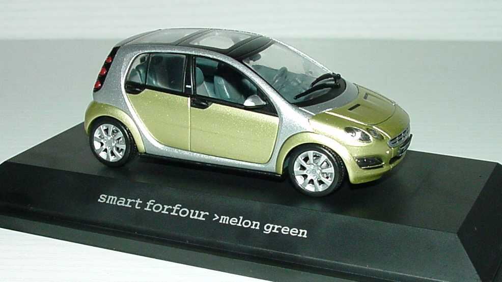 Foto 1:43 MCC Smart Forfour Meolon-green-met. Werbemodell Schuco 0017733V001C05Q00