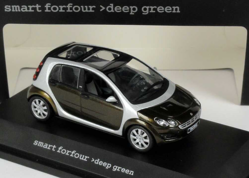 Foto 1:43 MCC Smart Forfour deep-green-met. Werbemodell Schuco 0017695V001C15Q00