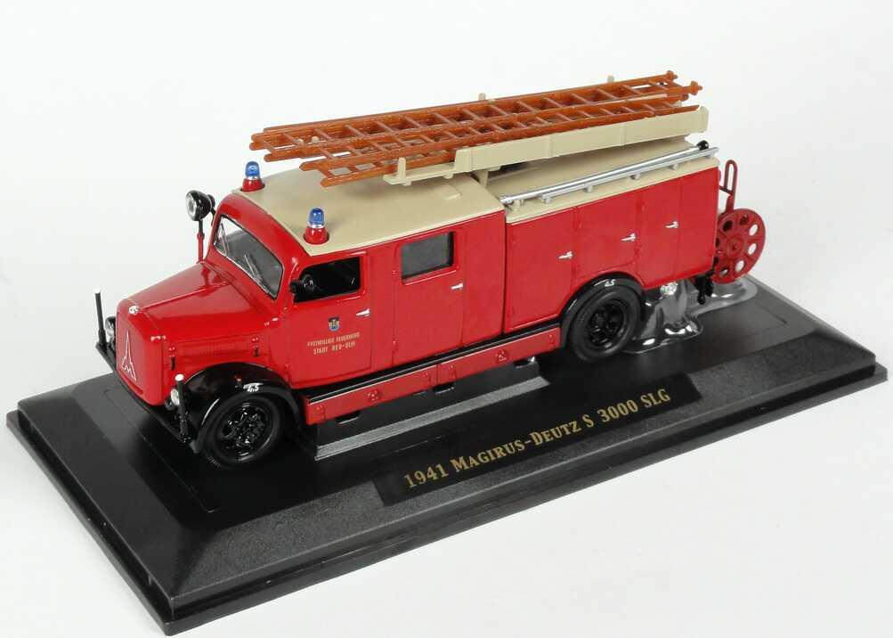 Foto 1:43 Magirus-Deutz S3000 SLG Freiw. Feuerwehr Stadt Neu-Ulm Yat Ming 43014