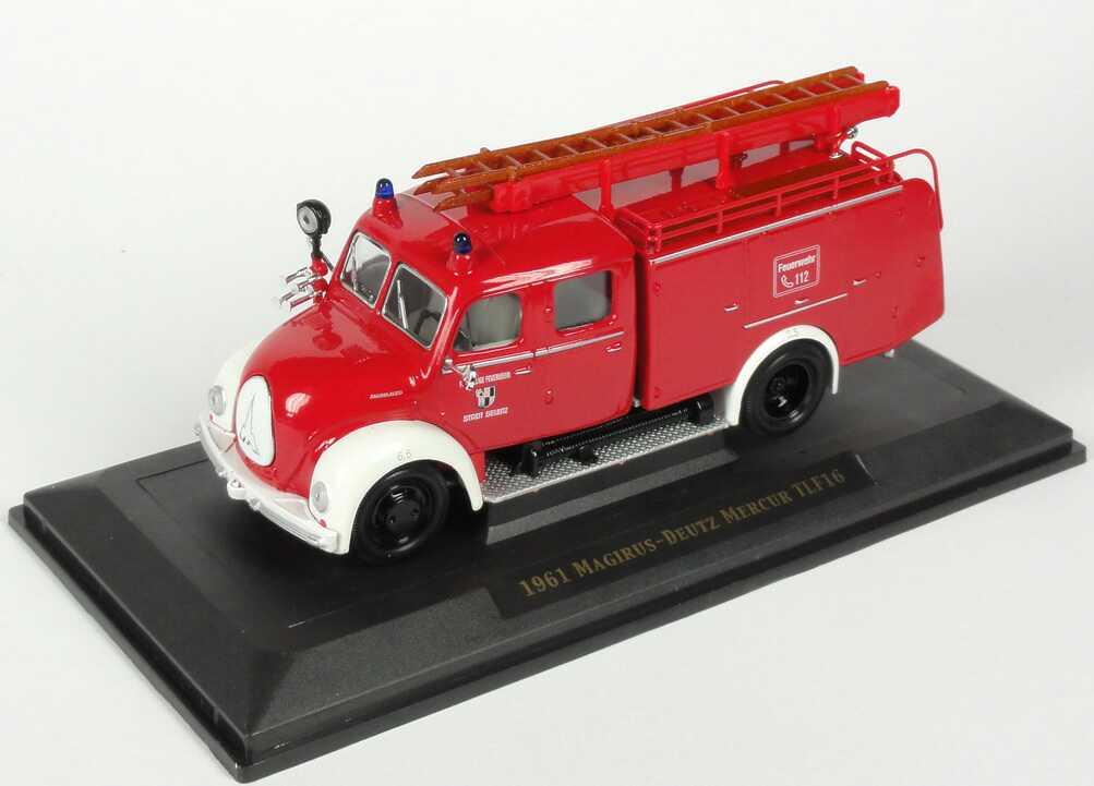 Foto 1:43 Magirus Mercur Rundhauber TLF 16 (1961) Freiw. Feuerwehr Stadt Selbitz Yat Ming 43010