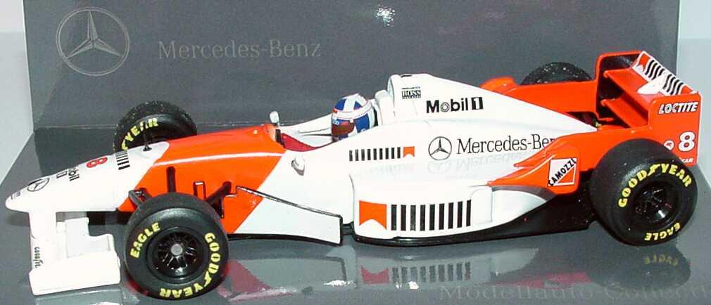 Foto 1:43 McLaren Mercedes MP4/11 Formel 1 1996 Nr.8, David Couldhard Werbemodell Minichamps B66005906