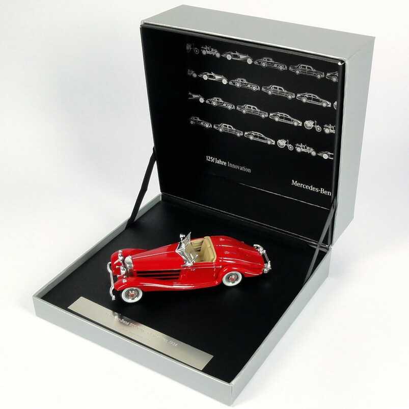 Foto 1:43 Mercedes-Benz 500 K Spezial-Roadster (1934) rot Werbemodell Ixo B66041005