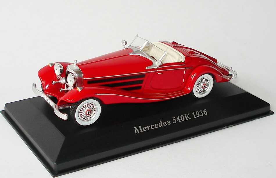 Mercedes 540K Spezial Roadster W29 1936 dunkelrot Modellauto 1:43 ixo models