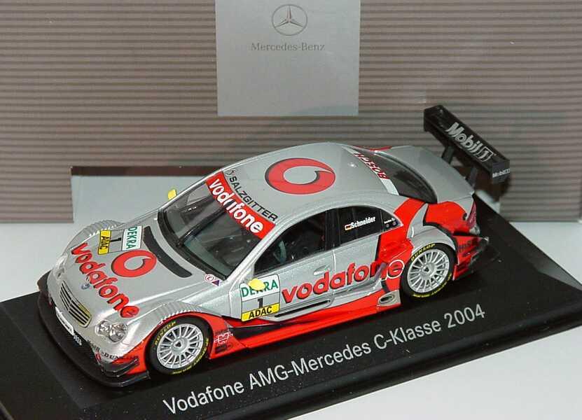 Foto 1:43 Mercedes-Benz C-Klasse DTM 2004 Vodafone Nr.1, Schneider Werbemodell Minichamps B66962207