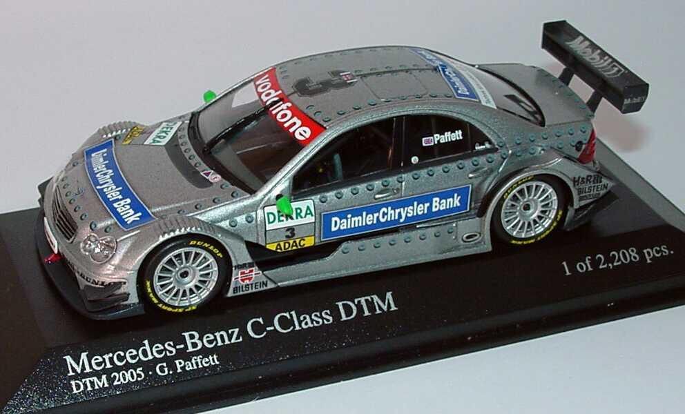 Foto 1:43 Mercedes-Benz C-Klasse DTM 2005 DaimlerChrysler Bank Nr.3, Paffett DTM Champion 2005 Minichamps 400053503