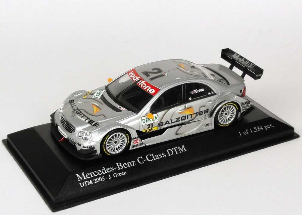 Foto 1:43 Mercedes-Benz C-Klasse DTM 2005 Persson, Salzgitter Nr.21, J. Green Minichamps 400053521